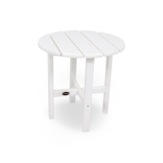 POLYWOOD 18-inch Outdoor Round Side Table