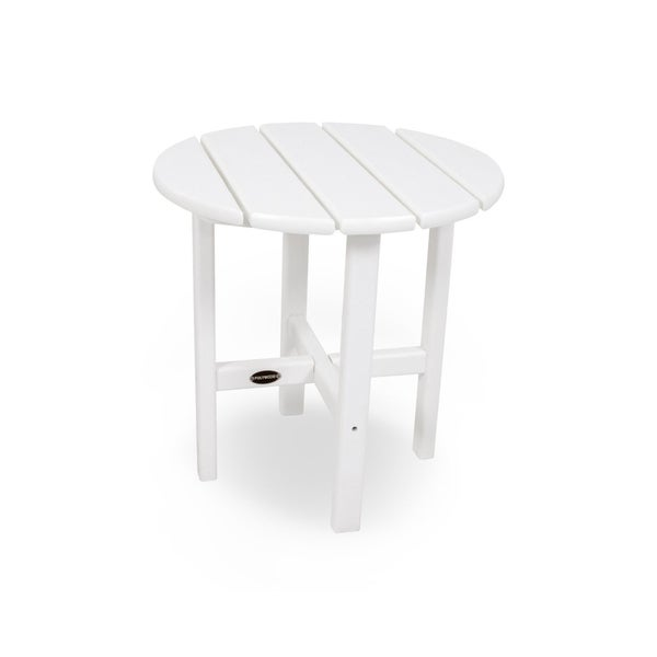 POLYWOOD® 18-inch Outdoor Round Side Table