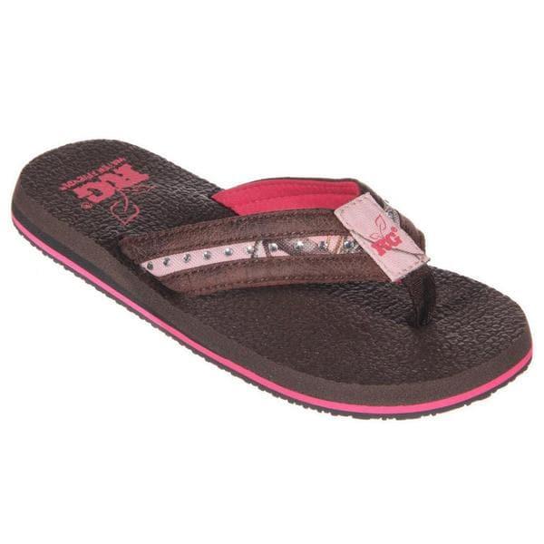8cbe2c9ca Shop RealTree Women s Brown Camo Canvas Rubber Thong Sandal - Free ...