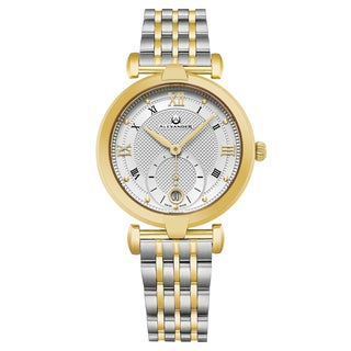 Alexander Women's Swiss Made Stainless Steel Two Tone Link Bracelet Watch