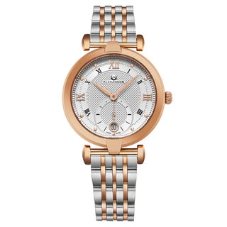 Alexander Women's Swiss Made Olympias Two Tone Stainless Steel Link Bracelet Watch