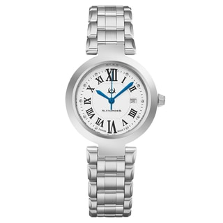Alexander Women's Swiss Made Niki Stainless Steel Link Bracelet Watch