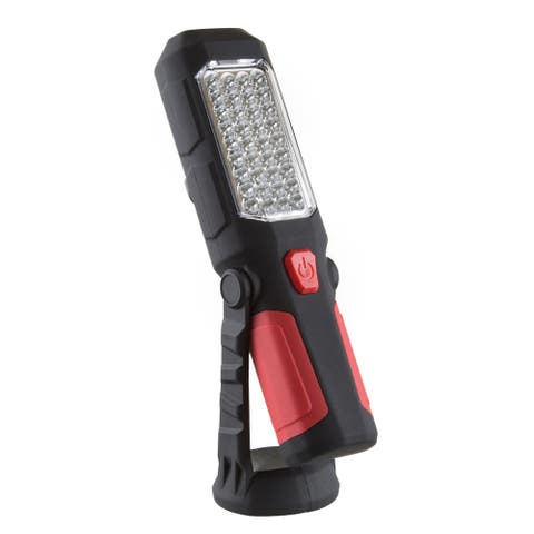 LED Flashlight with Magnetic Swivel Base and Hanging Hook  200 Lumen Dual Beam Work Lamp by Stalwart
