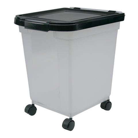 Iris USA INC 25 Lb Airtight Pet Food Storage Container With Casters