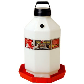 Pet Lodge 7 Gallon Red Plastic Poultry Waterer