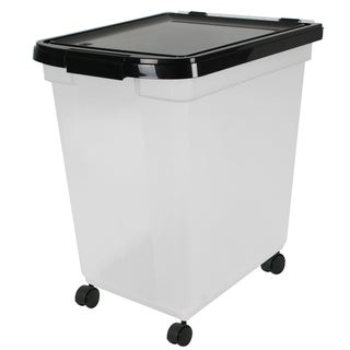 Iris USA INC 50 Lb Airtight Pet Food Storage Container With Casters
