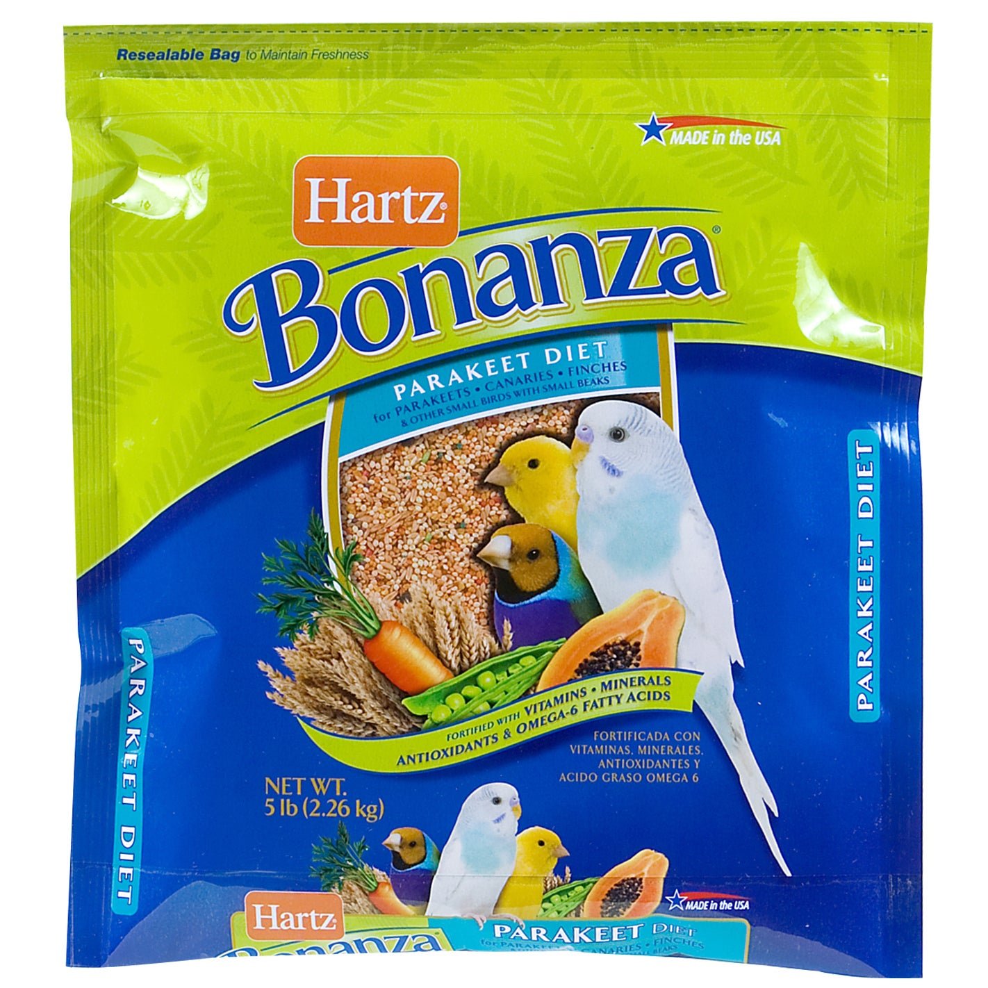 Hartz 4 Lb Nutrition Bonanza Parakeet Gourmet Diet (4 LB)