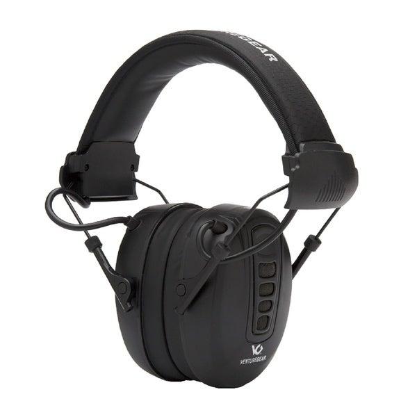 Pyramex Venture Gear Clandestine Black 24dB Electronic Earmuffs