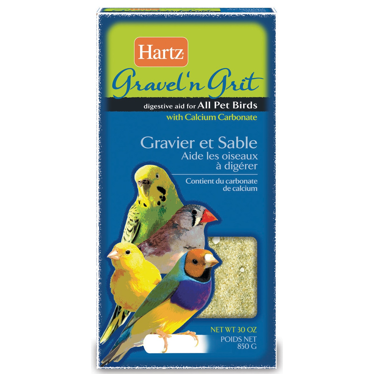 Hartz Gravel'n Grit Pet Bird Digestive Aid (30oz), Grey