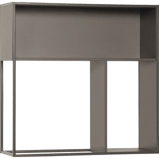 Voelkel Muto Collection Brown Wood Hanging Wall Shelf