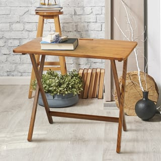 American Trails Arizona Red Oak Folding Tv Tray Table