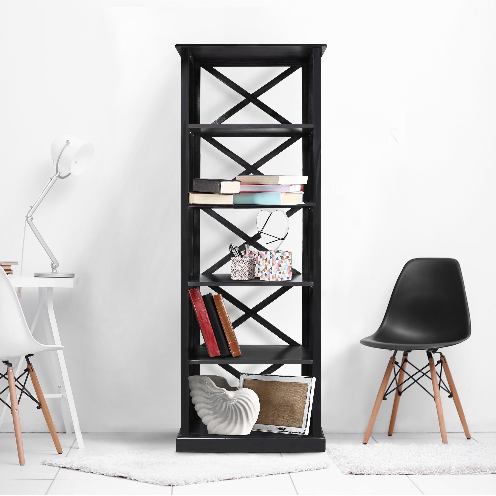 room modern free america of shipping pin divider lian shelf bookcase furniture black bookcases open today