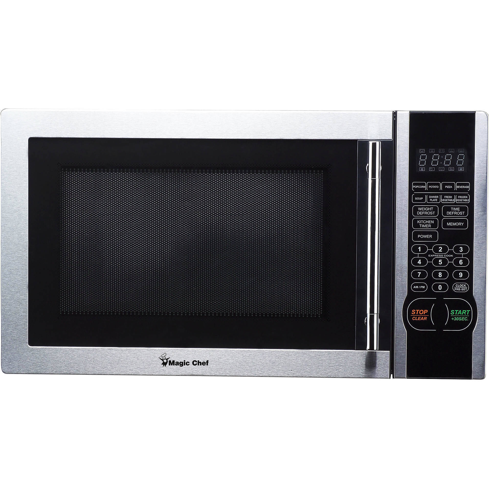 Magic Chef Stainless Steel (Silver) Microwave Oven (Glass)