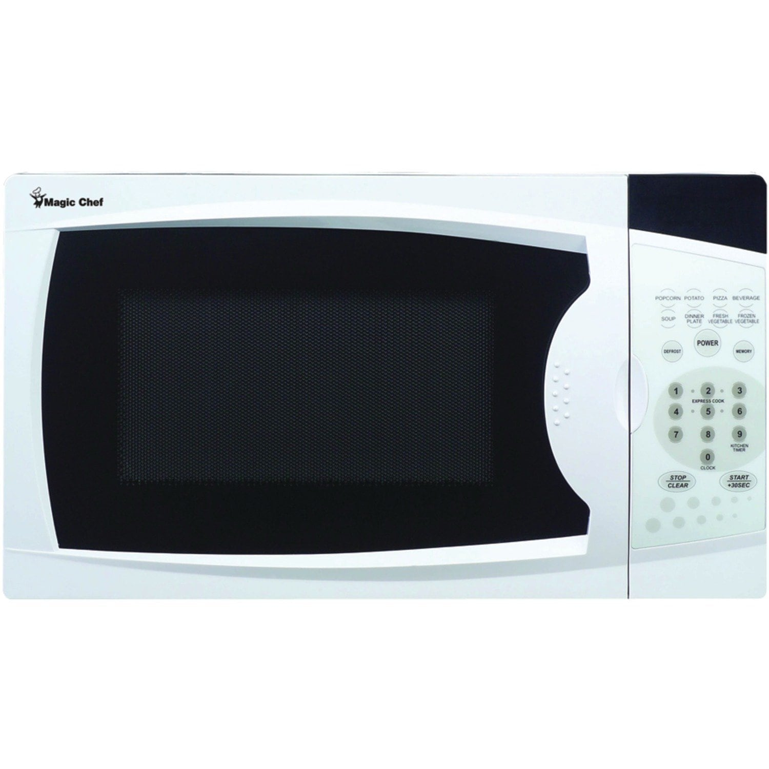 Magic Chef 0.7 Microwave Oven, White, Size Compact (Glass)