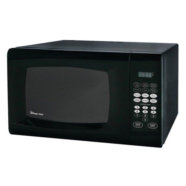 Shop Magic Chef 0 9 Microwave Oven Black Free Shipping