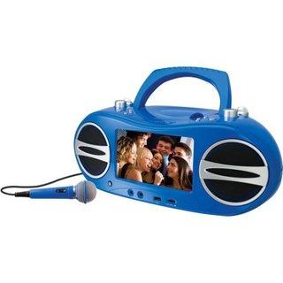 GPX BD717BU Portable Karaoke Boombox, Blue