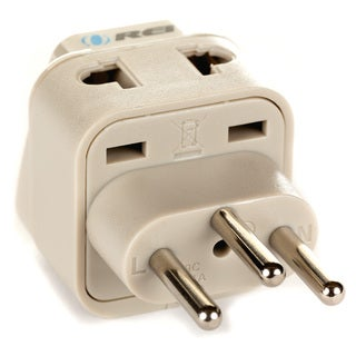 OREI Grounded Universal 2 in 1 Plug Adapter Type J for Switzerland & more - High Quality - CE Certified - RoHS Compliant WP-J-GN