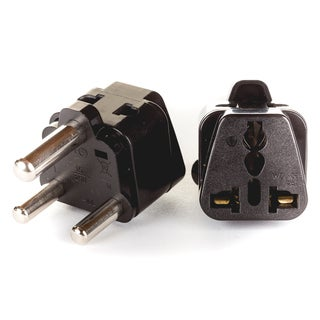 OREI 2 in 1 USA to South Africa Adapter Plug (Type M) - 2 Pack, Black
