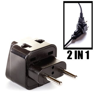 OREI 2 in 1 USA to Europe, Russia, UAE Adapter Plug (Type C) - 4 Pack, Black
