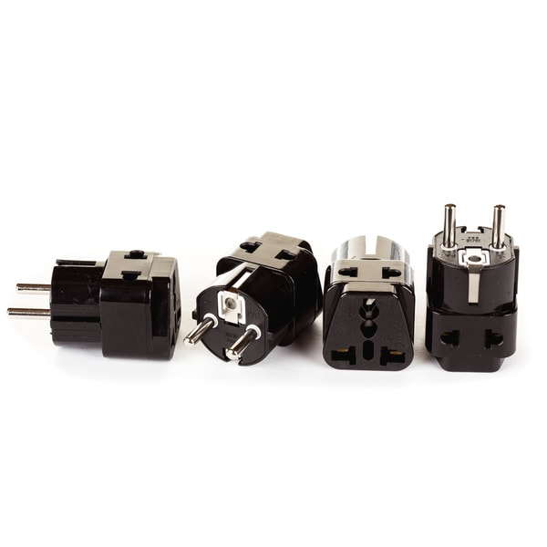 shop orei 2 in 1 usa to europe adapter plug schuko type. Black Bedroom Furniture Sets. Home Design Ideas