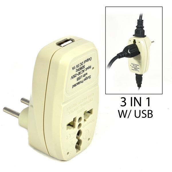 Shop Orei 3 In 1 Continental Europe Travel Adapter Plug