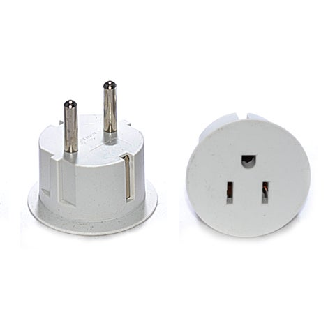 OREI American USA To European Schuko Germany Plug Adapters CE Certified Heavy Duty - 6 Pack