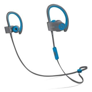Refurbished Beats by Dr. Dre Powerbeats2 Blue and Grey Wireless Earbud Headphones