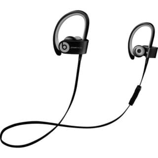Refurbished Beats by Dr. Dre Powerbeats2 Black and Grey Wireless Earbud Headphones