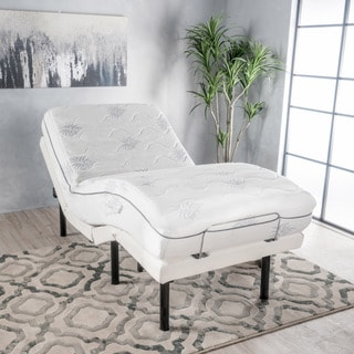Kirke 11-inch Twin XL-size Aloe Gel Memory Foam Mattress Adjustable Bed by Christopher Knight Home