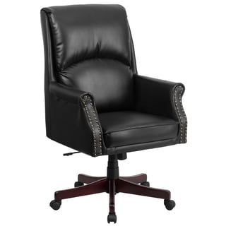 Clifton Black Leather Executive Adjustable Swivel Office Chair