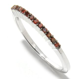 Sterling Silver 1/6ct TDW Red Diamond Band Ring