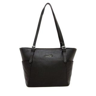 Calvin Klein Pebble Black Leather Tote