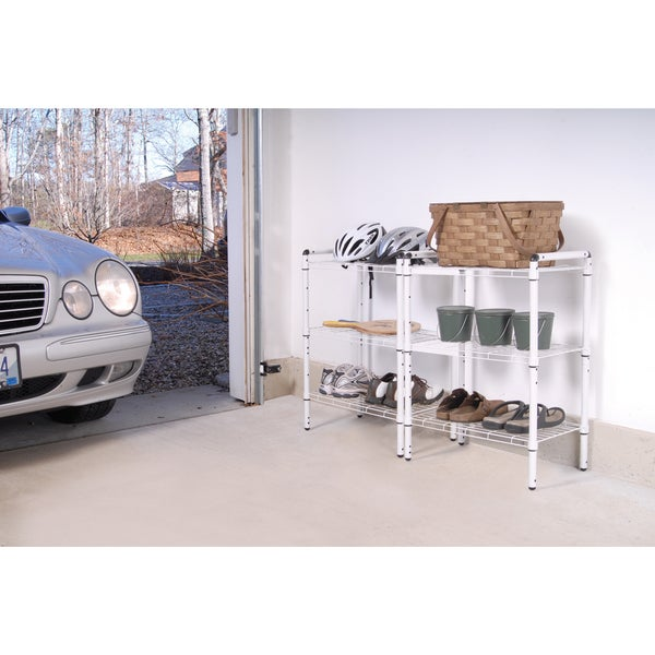 The Art of Storage White Steel 3-tier Quick Rack (Set of 2). Opens flyout.