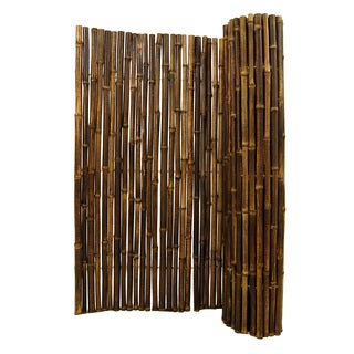Black Rolled Bamboo Fence 1' D X 4' H X 8' L