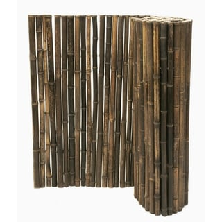 Black Rolled Bamboo Fence