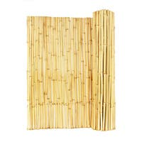 Tan Wood Rolled Bamboo Fence