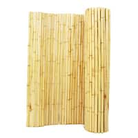 Natural Bamboo Panel Fence 6 ft. H X 8 ft. L x 1 in. D