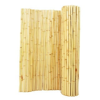 Natural Rolled Bamboo Fence 1' D X 6' H X 8' L