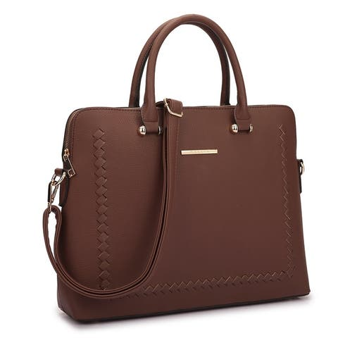 Dasein Front Stitching Women's Shoulder Briefcase