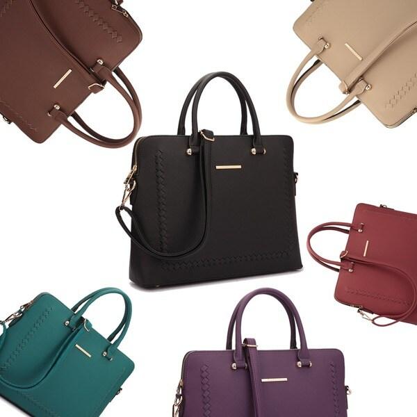 Dasein Front Stitching Women's Shoulder Briefcase. Opens flyout.