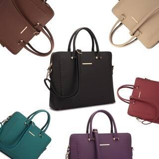 Dasein Front Stitching Women's Shoulder Briefcase|https://ak1.ostkcdn.com/images/products/13839511/P20483439.jpg?impolicy=medium