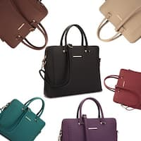 Dasein Front Stitching Women's Shoulder Briefcase