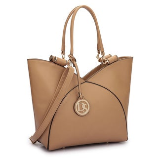 Dasein Faux Leather V-design Tote Bag