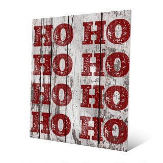 Santa's Laughter 'HO HO HO!' Metal Wall Art