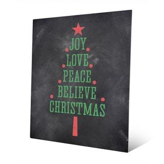 'The Joys of Christmas' Metal Wall Art