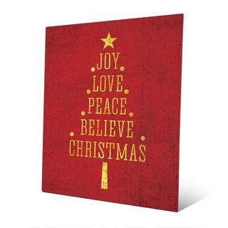 'The Joys of Christmas' Gold Metal Wall Art
