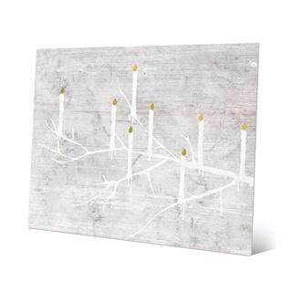 'Candle Tree - Night' Wall Art on Metal