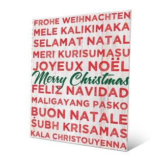 'Merry Christmas Naughty List' Wall Art on Metal