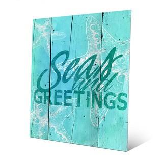 Cerulean Seas and Greetings Metal Wall Art