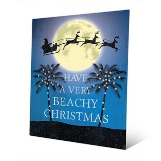 Have a Very Beachy Christmas Wall Art on Metal